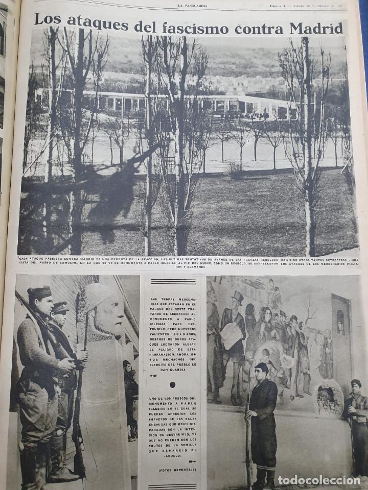 Libros antiguos: Tomo I con 75 notas gráficas La Vanguardia, del bando Republicano, muy buen estado, 1937 - Foto 59 - 167942420