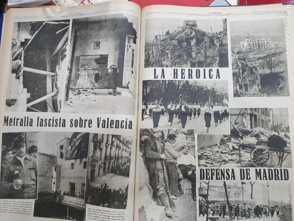 Libros antiguos: Tomo I con 75 notas gráficas La Vanguardia, del bando Republicano, muy buen estado, 1937 - Foto 60 - 167942420