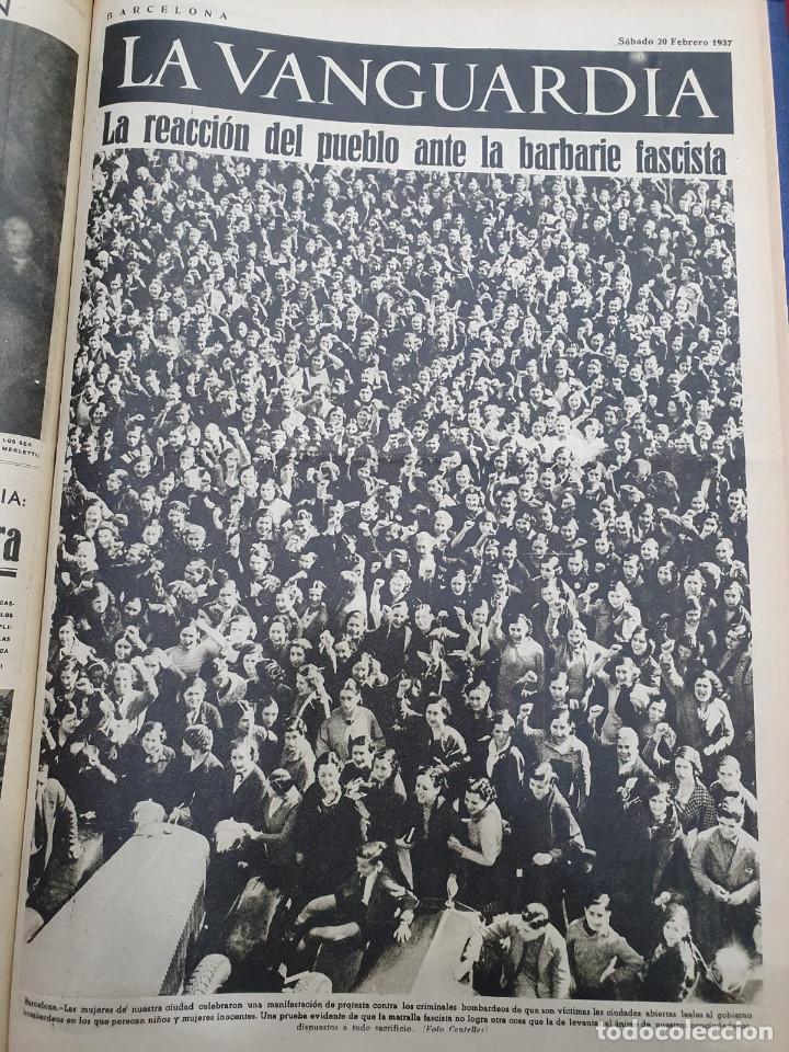 Libros antiguos: Tomo I con 75 notas gráficas La Vanguardia, del bando Republicano, muy buen estado, 1937 - Foto 61 - 167942420