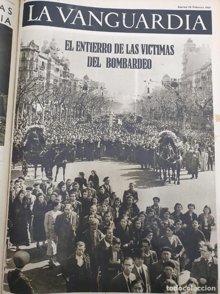Libros antiguos: Tomo I con 75 notas gráficas La Vanguardia, del bando Republicano, muy buen estado, 1937 - Foto 62 - 167942420