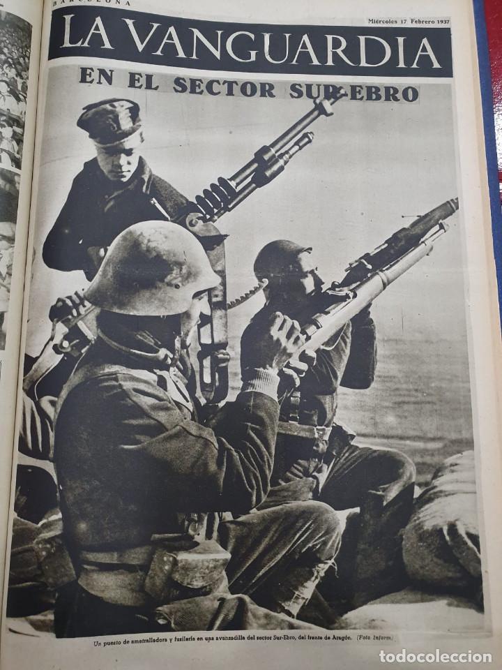Libros antiguos: Tomo I con 75 notas gráficas La Vanguardia, del bando Republicano, muy buen estado, 1937 - Foto 63 - 167942420