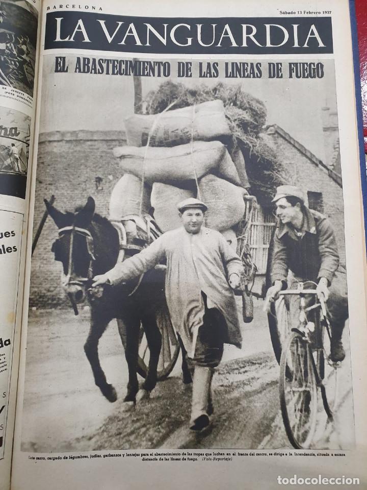 Libros antiguos: Tomo I con 75 notas gráficas La Vanguardia, del bando Republicano, muy buen estado, 1937 - Foto 64 - 167942420
