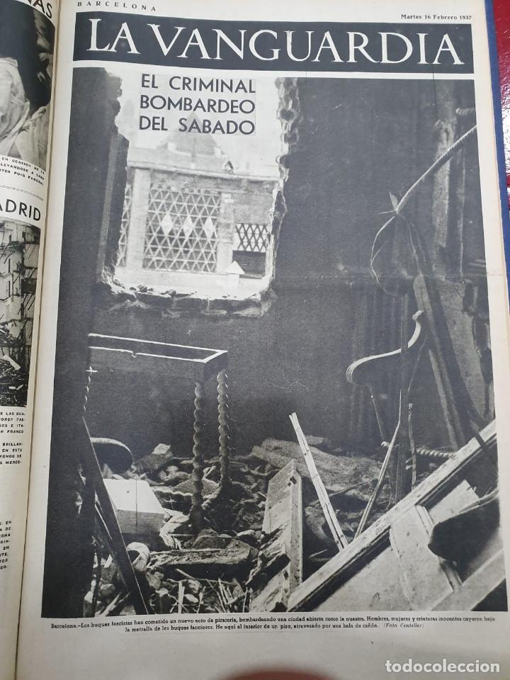 Libros antiguos: Tomo I con 75 notas gráficas La Vanguardia, del bando Republicano, muy buen estado, 1937 - Foto 65 - 167942420