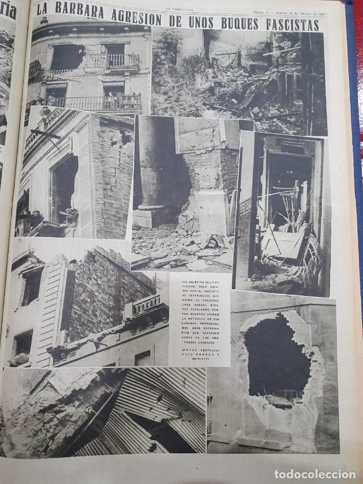 Libros antiguos: Tomo I con 75 notas gráficas La Vanguardia, del bando Republicano, muy buen estado, 1937 - Foto 66 - 167942420