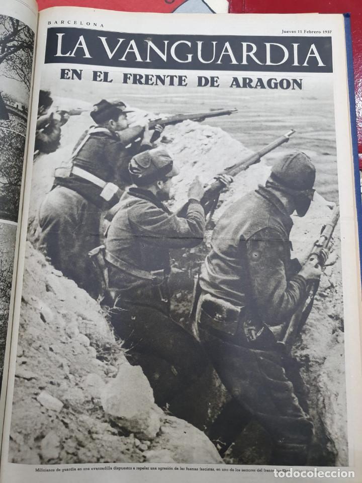 Libros antiguos: Tomo I con 75 notas gráficas La Vanguardia, del bando Republicano, muy buen estado, 1937 - Foto 67 - 167942420