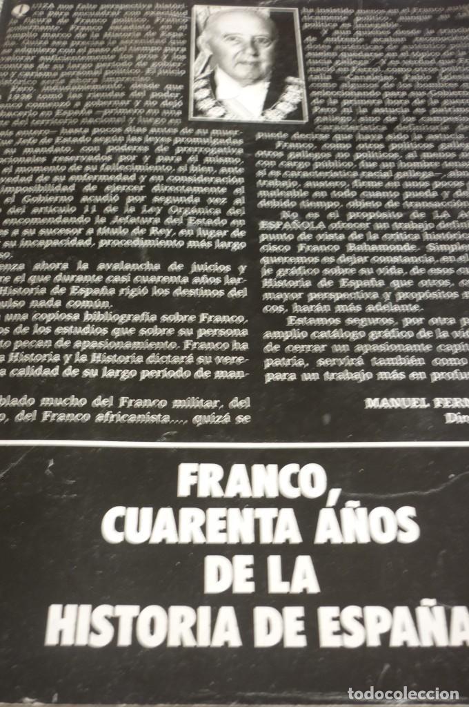 LA ACTUALIDAD ESPAÑOLA. FRANCO 40 AÑOS DE LA HISTORIA DE ESPAÑA (Libros antiguos (hasta 1936), raros y curiosos - Historia - Guerra Civil Española)
