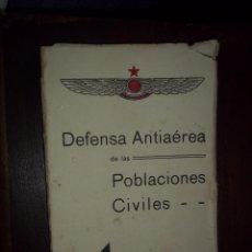 Libros antiguos: EJERCITO ESTADO ESPAÑOL.REPUBLICA. DEFENSA ANTIAEREA DE LAS POBLACIONES CIVILES.VALENCIA.DIFICIL. Lote 168761688