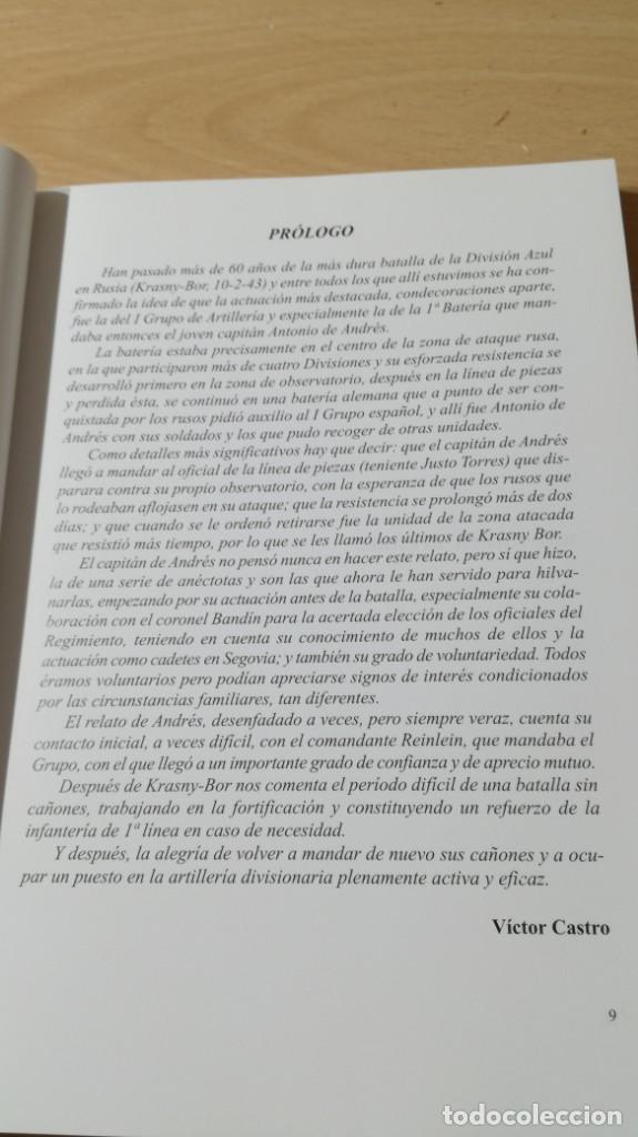 Libros antiguos: ARTILLERÍA EN LA DIVISIÓN AZUL - ANTONIO DE ANDRES Y ANDRES - KRASNY BOR - - Foto 11 - 169107372