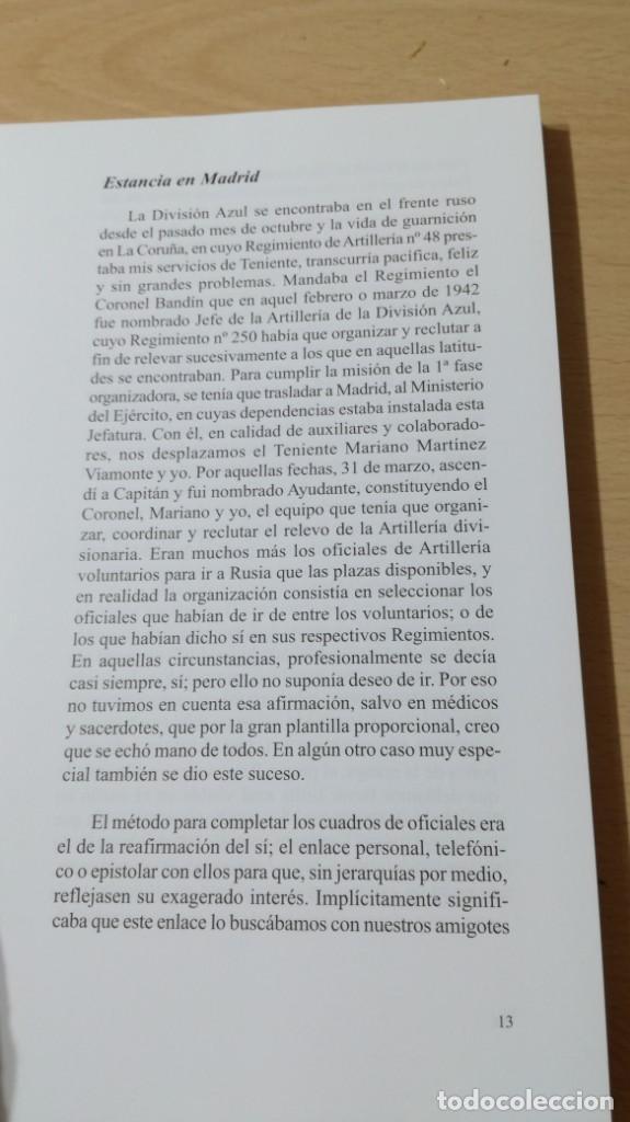 Libros antiguos: ARTILLERÍA EN LA DIVISIÓN AZUL - ANTONIO DE ANDRES Y ANDRES - KRASNY BOR - - Foto 12 - 169107372
