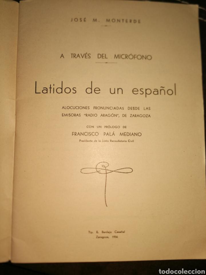 Libros antiguos: LATIDOS DE UN ESPAÑOL, ALOCUCIONES GUERRA CIVIL.1936.(IMPECABLE) - Foto 2 - 171641843