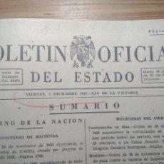 Libros antiguos: BOLETÍN OFICIAL DEL ESTADO (DICIEMBRE DE 1939) (GUERRA CIVIL, FRANQUISMO, REPÚBLICA). Lote 175969719