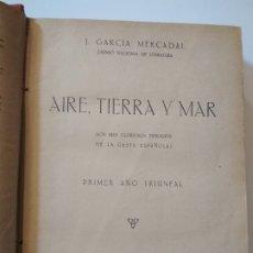 Libros antiguos: AIRE, TIERRA Y MAR - J. GARCÍA MERCADAL - 1ER AÑO TRIUNFAL 1937 GUERRA CIVIL BATALLAS. Lote 176105712
