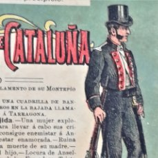 Libros antiguos: LIBRO LAS ESCUADRAS DE CATALUÑA,FINALES SIGLOXIX,MOSSOS D'ESQUADRA POLICIA DE CATALUNYA,20 HISTORIAS. Lote 177281734