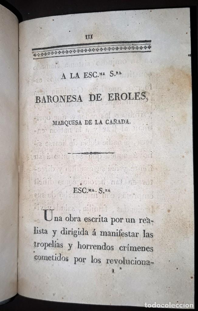 Libros antiguos: JOSE MARQUET Y ROCA. MEMORIAS PARA LA HISTORIA DE LA ULTIMA GUERRA CIVIL DE ESPAÑA. CAMPAÑA 1820-23. - Foto 3 - 179196581