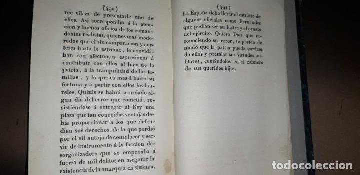 Libros antiguos: JOSE MARQUET Y ROCA. MEMORIAS PARA LA HISTORIA DE LA ULTIMA GUERRA CIVIL DE ESPAÑA. CAMPAÑA 1820-23. - Foto 7 - 179196581