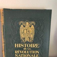 Libros antiguos: LIBRO HISTOIRE DE LA REVOLUTION NATIONALE ESPAGNOLE TOMO I PARIS 1939 MANUEL MACHADO. Lote 182785533