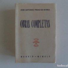 Libros antiguos: LIBRERIA GHOTICA. JOSE ANTONIO PRIMO DE RIBERA. OBRAS COMPLETAS. MADRID 1945.. Lote 186452151