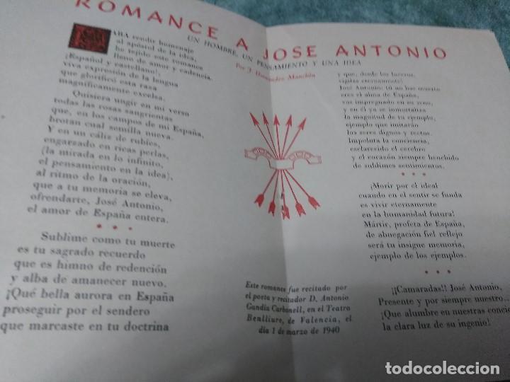 Libros antiguos: ROMANCE A JOSE ANTONIO - HOMENAJE PERPETUO - Foto 2 - 188491730