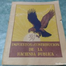 Libros antiguos: IMPUESTOS Y COTRIBUCION DE LA HACIENDA PUBLICA 11/2/55. Lote 188492637