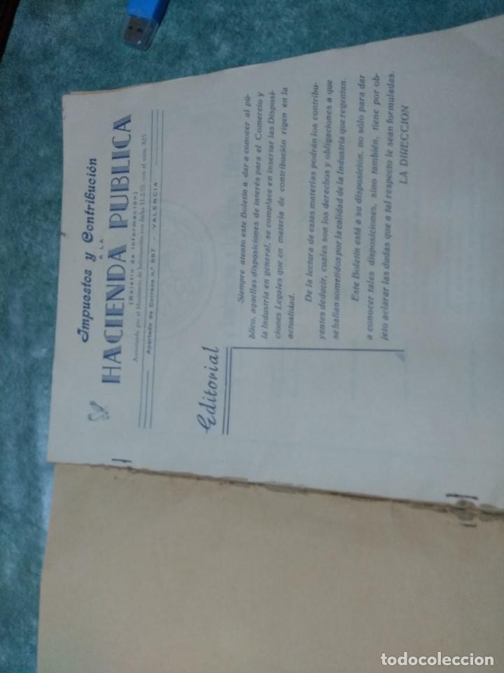 Libros antiguos: IMPUESTOS Y COTRIBUCION DE LA HACIENDA PUBLICA 11/2/55 - Foto 3 - 188492637
