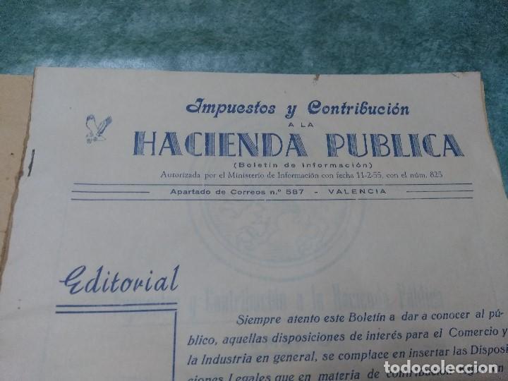 Libros antiguos: IMPUESTOS Y COTRIBUCION DE LA HACIENDA PUBLICA 11/2/55 - Foto 4 - 188492637