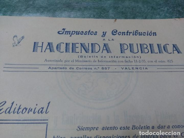Libros antiguos: IMPUESTOS Y COTRIBUCION DE LA HACIENDA PUBLICA 11/2/55 - Foto 5 - 188492637