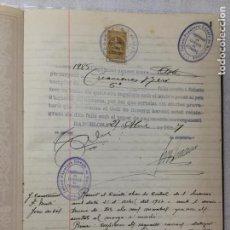Libros antiguos: LLIBRE D' ACTES DE CREACIONES RERI DEL COMITÉ OBRER DE CONTROL. 21 ABRIL AL 14 JUNY 1937.32X22CM.. Lote 190370755