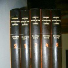 Libros antiguos: GEORGE SORIA - GUERRA Y REVOLUCION EN ESPAÑA 1936-1939, 5 TOMOS – EDICIONES OCEANO 1980. Lote 191339471
