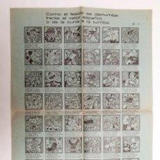 Libros antiguos: COMO EL FASCIO SE DERRUMBA ... - AUCA ANTIFASCISTA - ORIGINAL NO FACSÍMIL. Lote 191609578