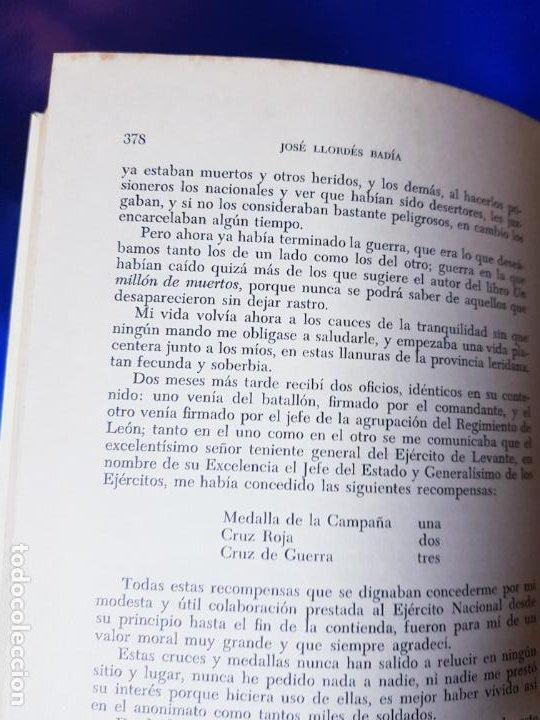 Libros antiguos: LIBRO-AL DEJAR EL FUSÍL-JOSÉ LLORDÉS-HORAS DE ESPAÑA-1969-2ªEDICIÓN-VER FOTOS - Foto 9 - 191870496