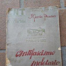 Livros antigos: ANTIFASCISMO PROLETARIO. JOSÉ GARCÍA PRADAS. DEDICADO Y FIRMADO POR EL AUTOR A FEDERICA MONTSENY. Lote 194013526