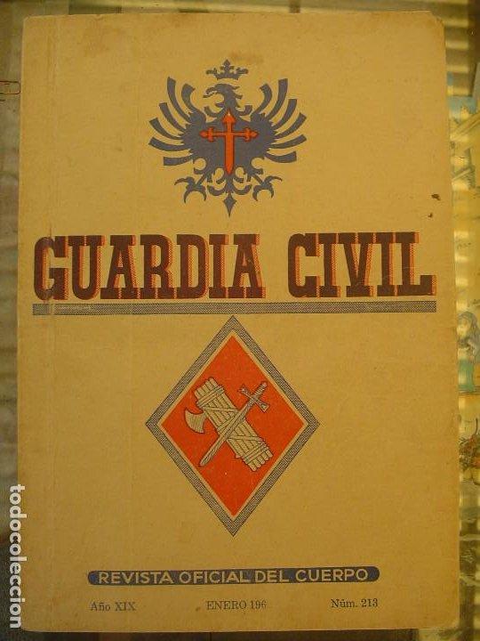 REVISTA OFICIAL DEL CUERPO NUM. 213 ENERO 1962 (Libros antiguos (hasta 1936), raros y curiosos - Historia - Guerra Civil Española)
