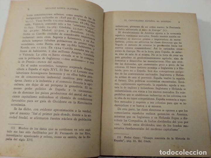 Libros antiguos: Antonio Ramos Oliveira ( Zalamea La Real, Huelva ). El capitalismo español al desnudo. Madrid 1935. - Foto 18 - 194223526