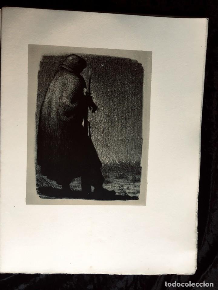 Libros antiguos: ELEGIES DE GUERRA - Nº13 de 13 exemplars en papel especial - MIQUEL DOLÇ - MICIANO (ilustr.) - Foto 3 - 194226586