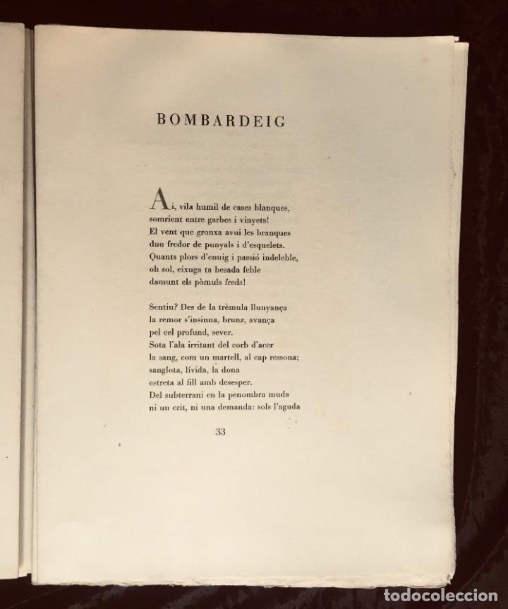 Libros antiguos: ELEGIES DE GUERRA - Nº13 de 13 exemplars en papel especial - MIQUEL DOLÇ - MICIANO (ilustr.) - Foto 4 - 194226586