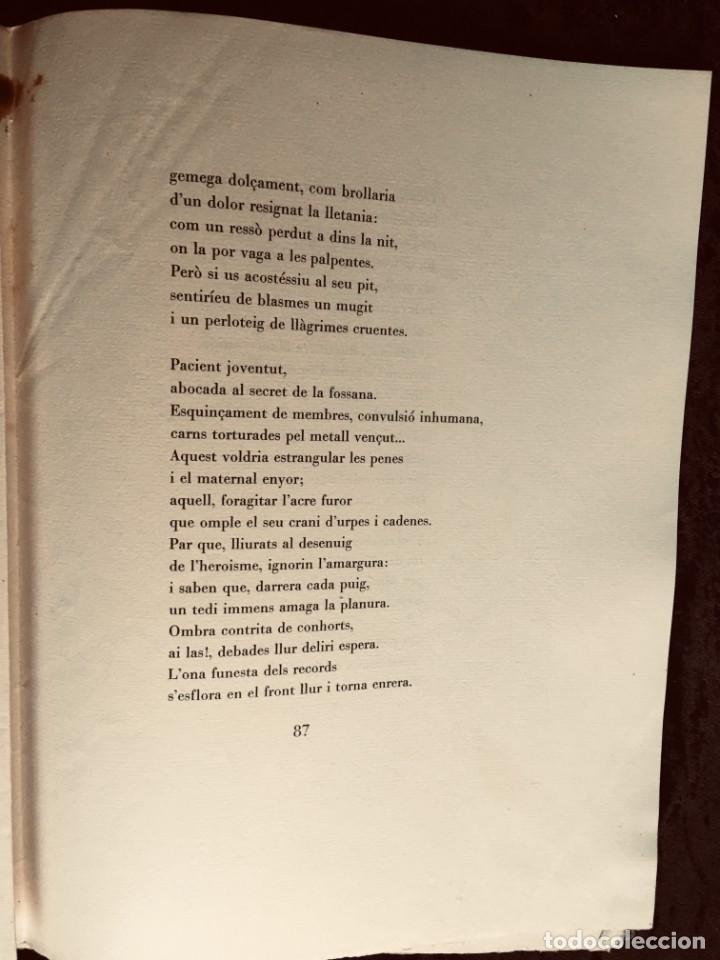 Libros antiguos: ELEGIES DE GUERRA - Nº13 de 13 exemplars en papel especial - MIQUEL DOLÇ - MICIANO (ilustr.) - Foto 5 - 194226586