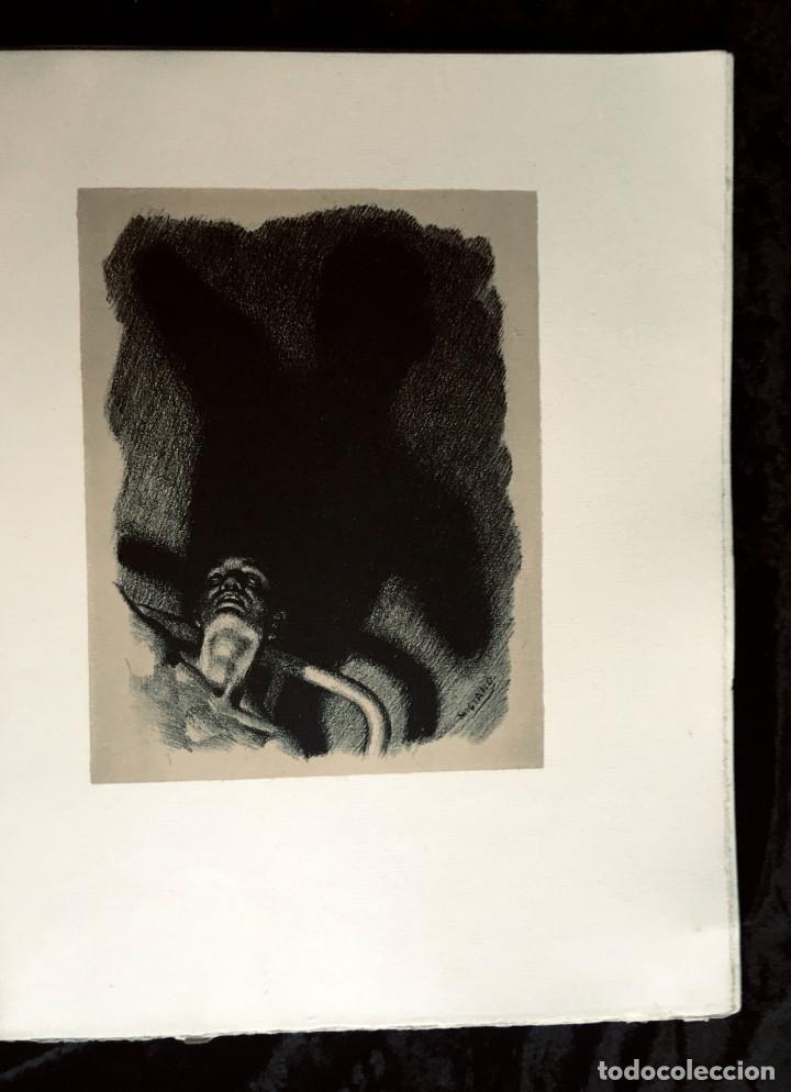 Libros antiguos: ELEGIES DE GUERRA - Nº13 de 13 exemplars en papel especial - MIQUEL DOLÇ - MICIANO (ilustr.) - Foto 6 - 194226586
