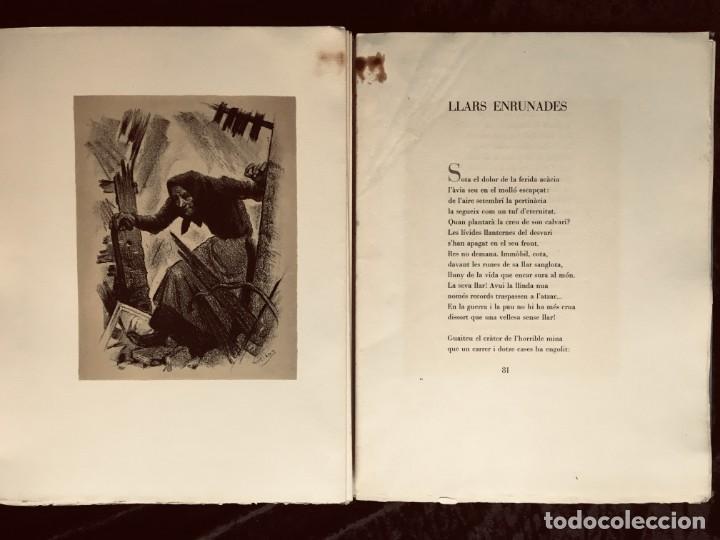 Libros antiguos: ELEGIES DE GUERRA - Nº13 de 13 exemplars en papel especial - MIQUEL DOLÇ - MICIANO (ilustr.) - Foto 7 - 194226586