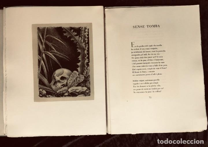 Libros antiguos: ELEGIES DE GUERRA - Nº13 de 13 exemplars en papel especial - MIQUEL DOLÇ - MICIANO (ilustr.) - Foto 12 - 194226586