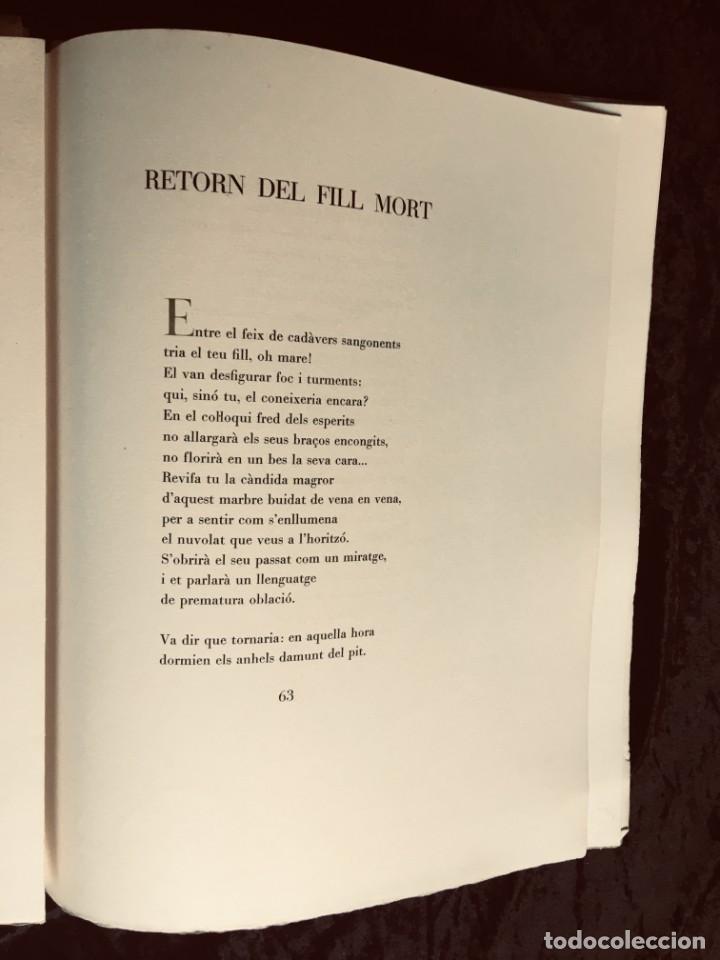 Libros antiguos: ELEGIES DE GUERRA - Nº13 de 13 exemplars en papel especial - MIQUEL DOLÇ - MICIANO (ilustr.) - Foto 13 - 194226586