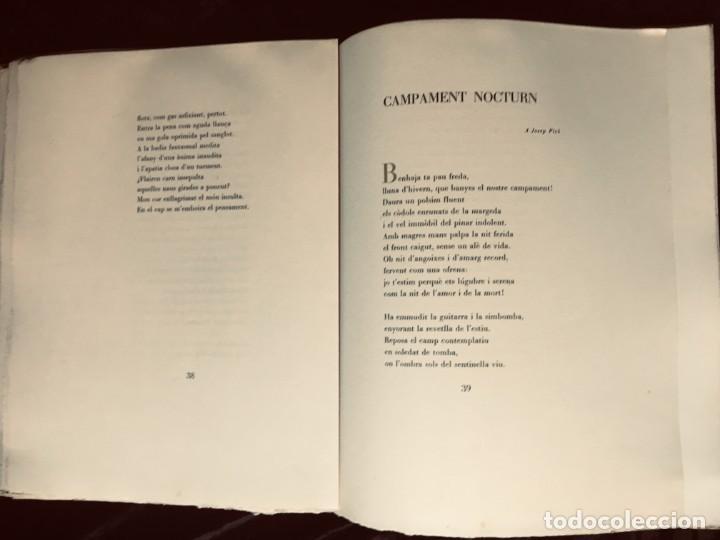 Libros antiguos: ELEGIES DE GUERRA - Nº13 de 13 exemplars en papel especial - MIQUEL DOLÇ - MICIANO (ilustr.) - Foto 14 - 194226586