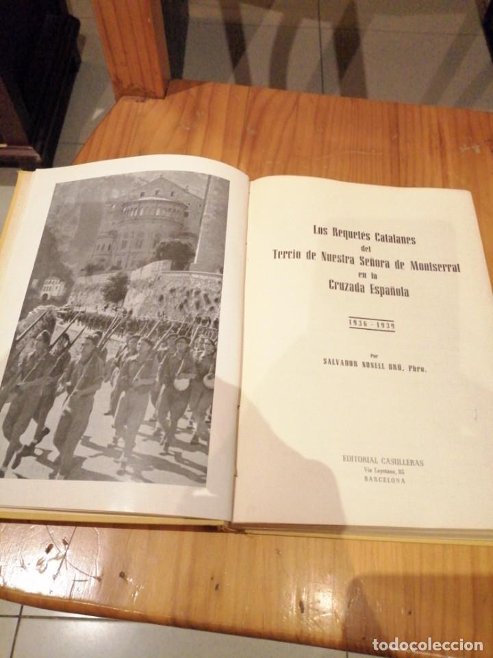 Libros antiguos: Tercio de requetes nuestra señora de Montserrat - Foto 3 - 194240402