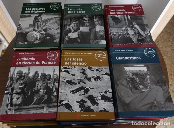 TESTIMONIOS DE LA GUERRA CIVIL, COMPLETA 40 LIBROS (Libros antiguos (hasta 1936), raros y curiosos - Historia - Guerra Civil Española)