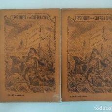 Libros antiguos: CAÑAMAQUE Y JIMENEZ, D. F. / EL PRISIONERO DE ESTELLA (2 VOLS.) COL. EPISODIOS DE LA GUERRA CIVIL . Lote 194555327