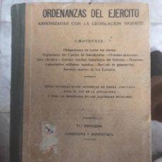 Libros antiguos: ORDENANZAS DEL EJÉRCITO 1936. Lote 194581568