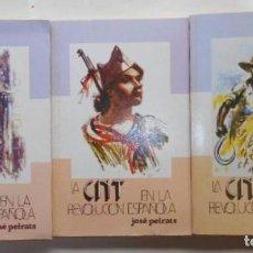 Libros antiguos: LA CNT EN LA REVOLUCIÓN ESPAÑOLA. JOSÉ PEIRATS.. Lote 194591350