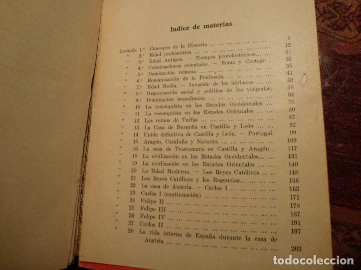 Libros antiguos: Historia de España. Alberto Sotos de la Lastra. Año 1931. Tapa dura - Foto 3 - 194782370