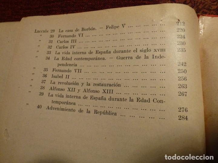 Libros antiguos: Historia de España. Alberto Sotos de la Lastra. Año 1931. Tapa dura - Foto 4 - 194782370
