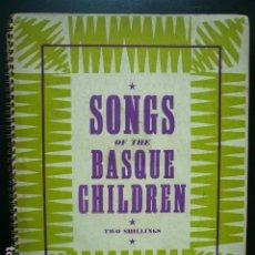 Libros antiguos: GUERRA CIVIL. EXILIO NIÑOS VASCOS. CANCIONERO IMPRESO EN INGLATERRA POR EL BASQUE CHILDREN'S COMMITE. Lote 194875496