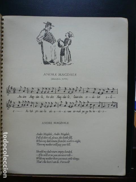 Libros antiguos: GUERRA CIVIL. EXILIO NIÑOS VASCOS. CANCIONERO IMPRESO EN INGLATERRA POR EL BASQUE CHILDRENS COMMITE - Foto 3 - 194875496